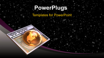 PowerPoint Template - Space background